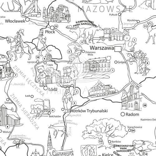 Polska Kolorowanka Xxl Mapa Młodego Odkrywcy