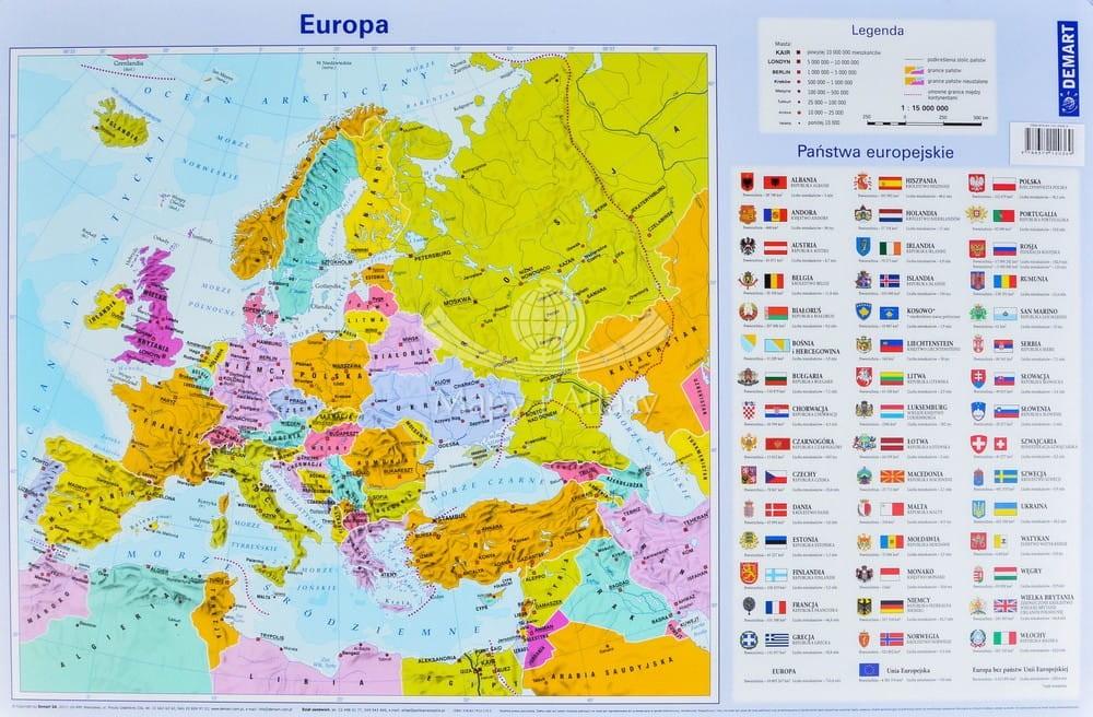Europa Mapa Podkladka Na Biurko
