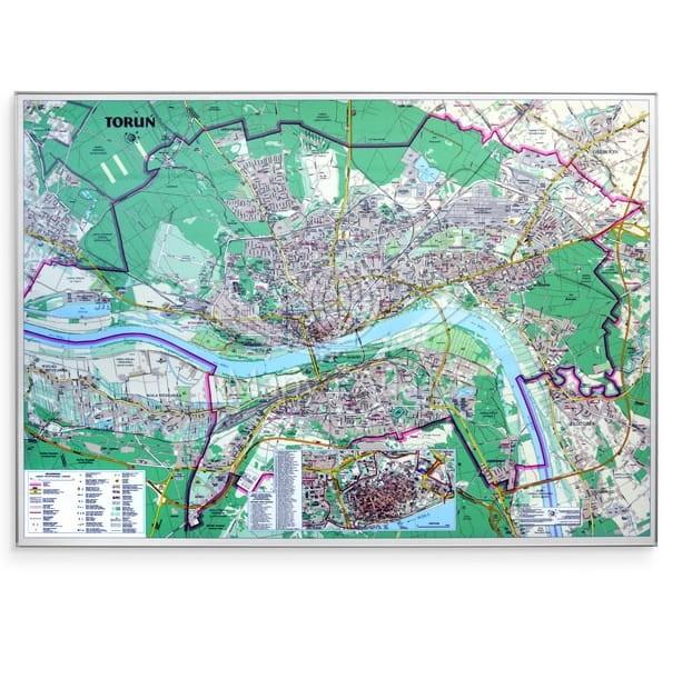 Torun Plan Miasta Mapa Magnetyczna