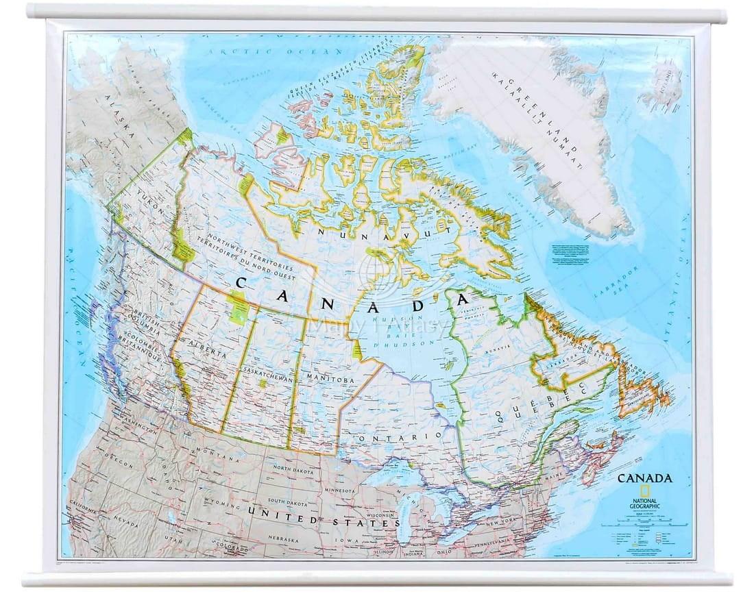 Kanada Mapa Scienna Polityczna Ng