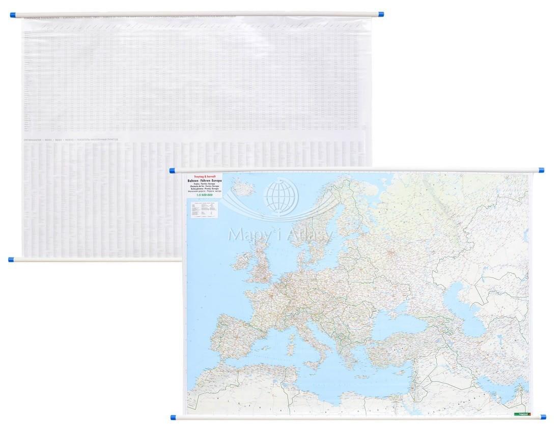 Europa Mapa Scienna Koljeowa Do Zawieszenia