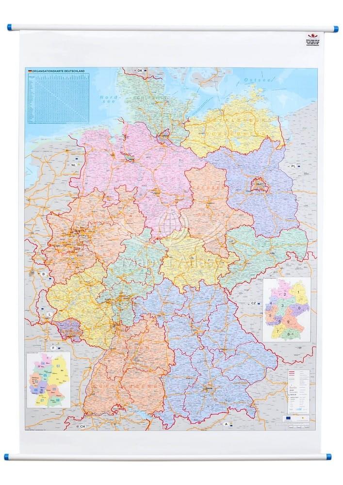 Niemcy Mapa Scienna Administracyjno Drogowa