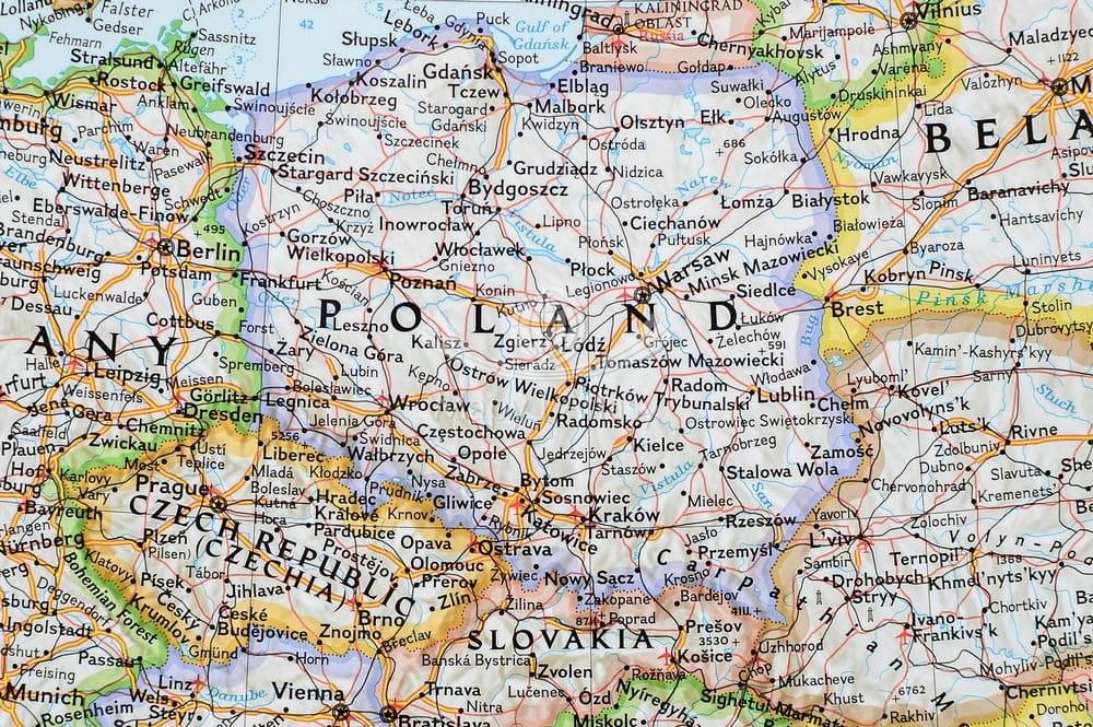Europa Mapa Polityczna Do Wpinania Ng