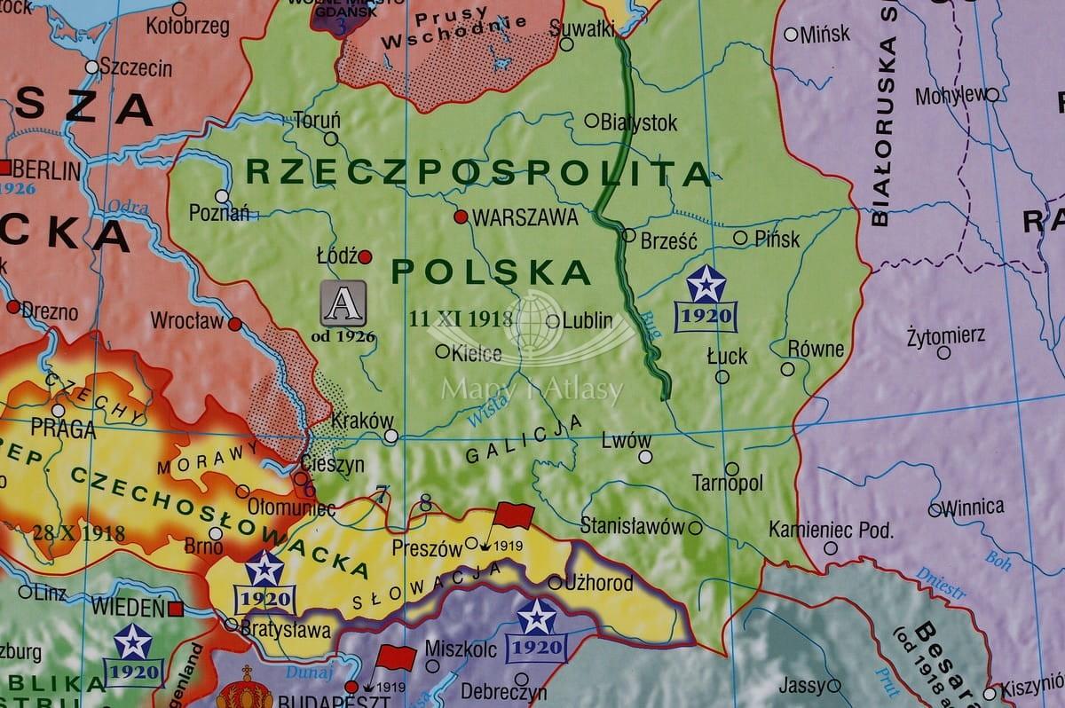 Europa W Latach 1919 1939 Mapa ścienna