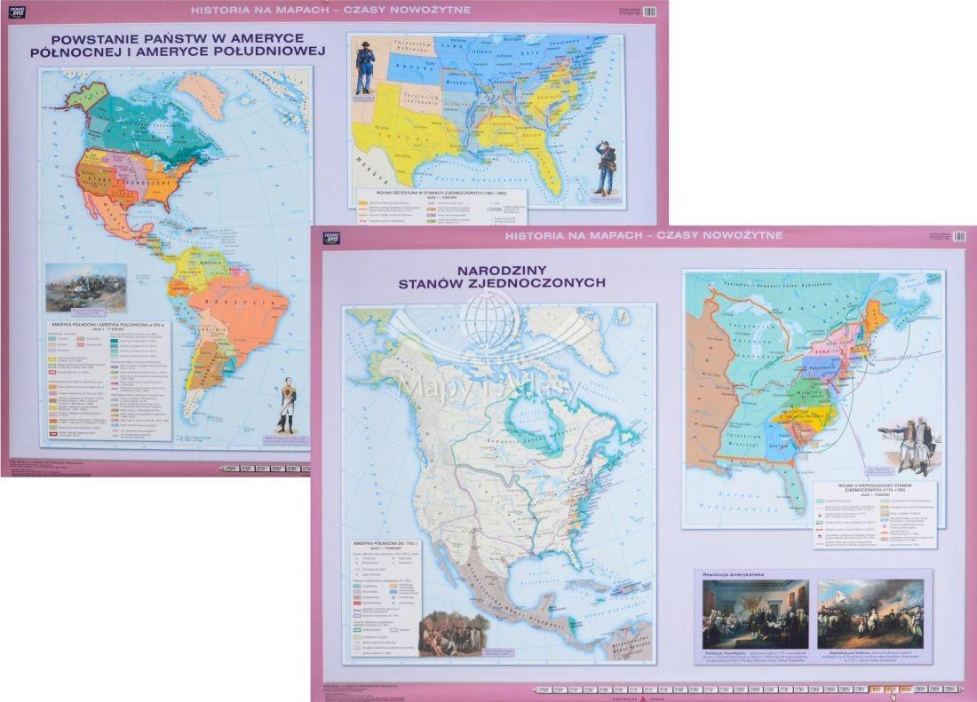 Stany Zjednoczone Mapa Szkolna
