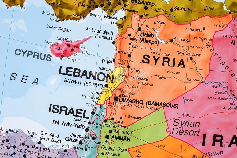Bliski Wschod Mapa Scienna Polityczna Mi