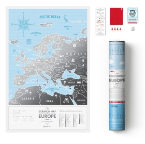 Europa. Mapa zdrapka Travel Map Silver Europe