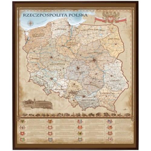 Rzeczpospolita Polska Mapa Magnetyczna